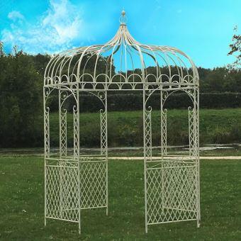 Gloriette Kiosque Tonnelle pergola en Fer de Jardin Blanc ...