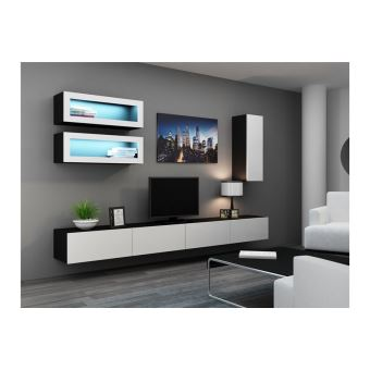 Parfait  172u20ac Sur Meuble Tv Design Suspendu BINO   Noir Et Blanc   Achat U0026 Prix |  Fnac