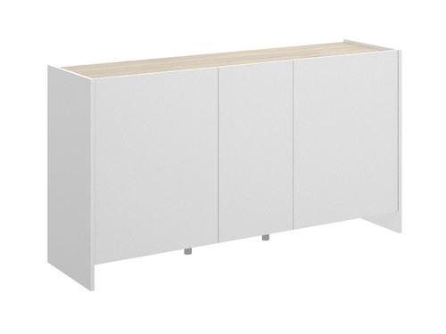 Buffet CHERIFA - 3 portes - Coloris : Blanc & chêne