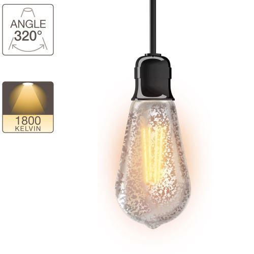 Ampoule LED ST64 - culot E27 - vintage antique