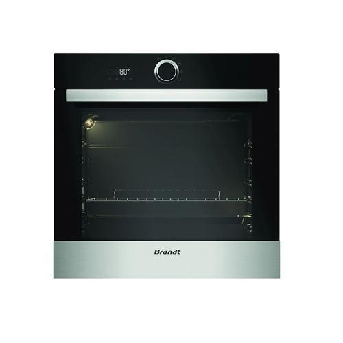 Brandt BXP5132X - Four - intégrable - niche - largeur : 56 cm - profondeur : 55 cm - hauteur : 58.5 cm - avec système auto-nettoyant - classe A - acier inoxydable