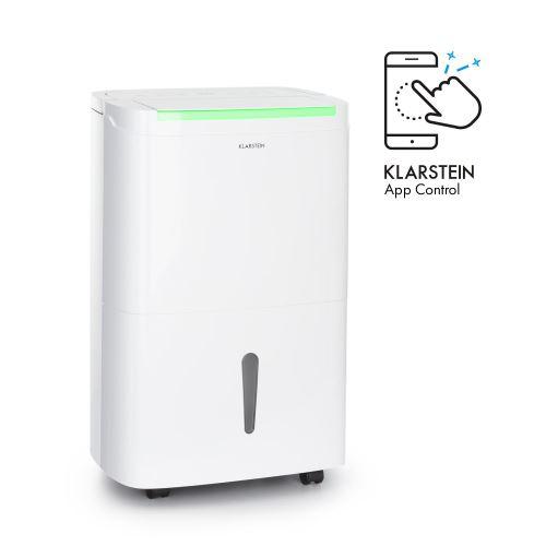 Klarstein DryFy Connect 30 Déshumidificateur d'air - Compression 30L-jour - WiFi - Pour piéces de 25 à 30m² - Réservoir 5L - Blanc