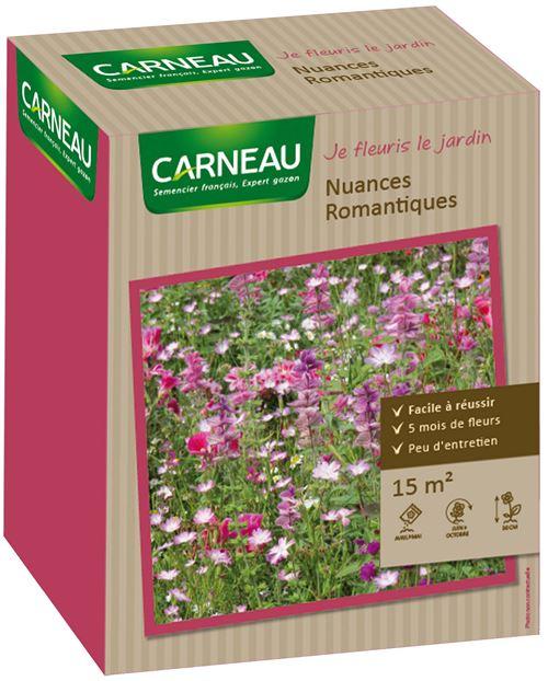 Carneau - Semence 5 mois de fleurs 15 m² Nuances romantiques