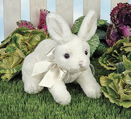 Bearington Hopi White Easter Bunny Rabbitt Plush Stuffed Animal, 10