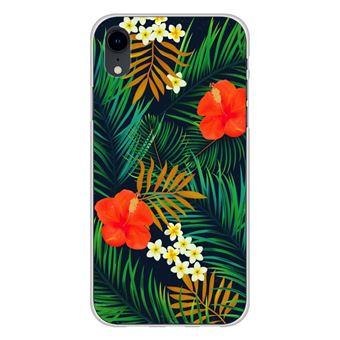 Coque silicone gel Apple iPhone XR motif Tropical