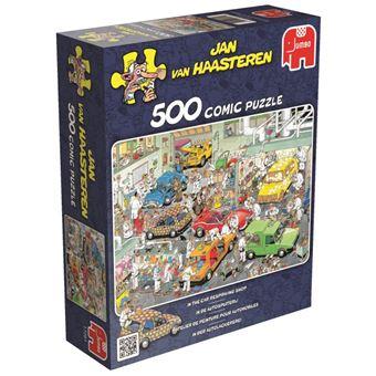 Puzzle 500 Pièces : Van Haasteren : L'atelier de peinture automobile, Jumbo
