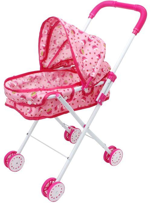 Luna filles en chariot de poupée 53,5 cm rose/blanc