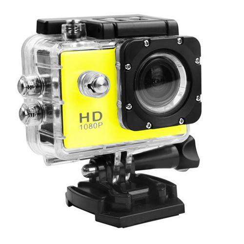 Caméra Sport Mini Hd 1080P Wifi Étanche -Jaune