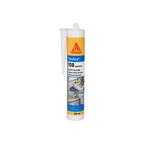 Mastic silicone anti-moisissure SIKA Sikaseal 108 Sanitaire - Blanc - 300ml
