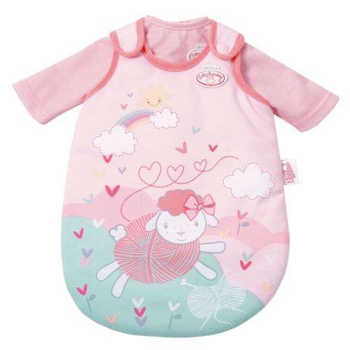 Turbulette poupon 36 cm baby annabell mouton rose et verte + t-shirt rose - gigoteuse poupee