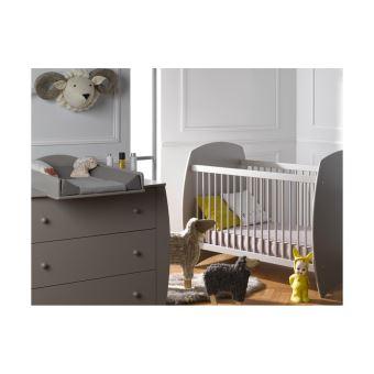 Petite chambre bébé Médéa blanc Chambrekids Gris - Chambres enfant ...