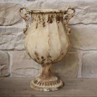 Vasque Pot Jardinière avec Anse en Fer 45 cm