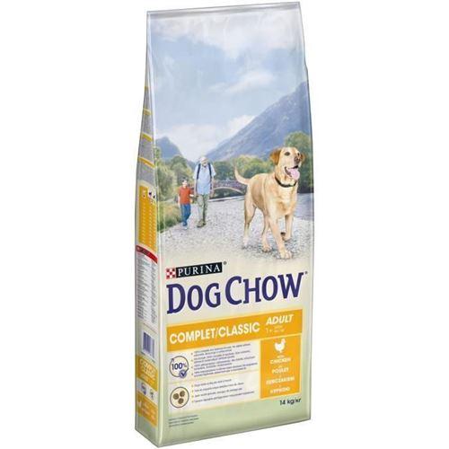 Dog Chow Croquettes Complet - Avec Du Poulet - Pour Chien Adulte - 14 Kg