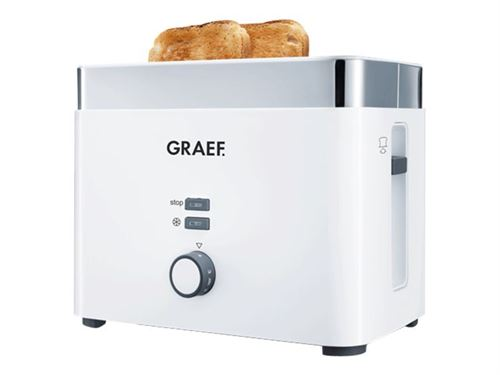 Graef TO 61 - Grille-pain - 2 tranche - 2 Emplacements - blanc noble