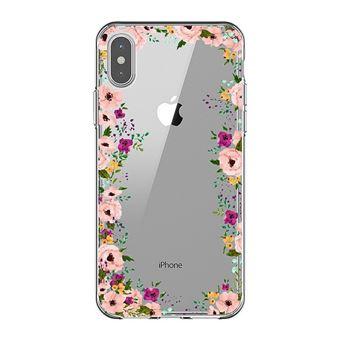 coque iphone xs max rose transparente