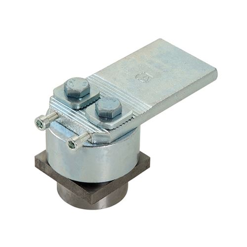 Pivot haut réglable à billes - carré pour tube carré de 50 mm