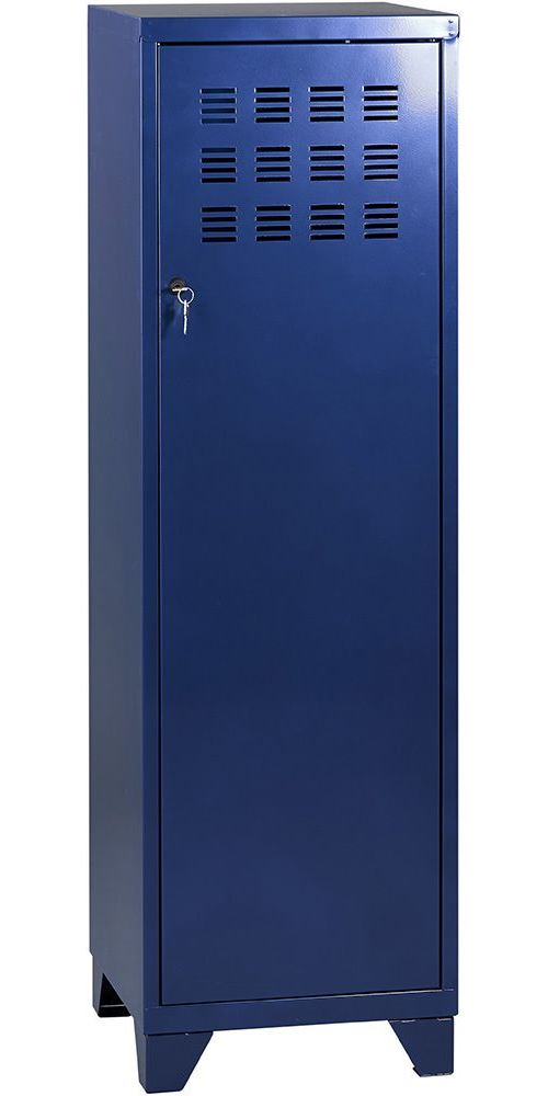 Pierre Henry - Armoire de rangement métal 1 porte Bleu nuit nacré