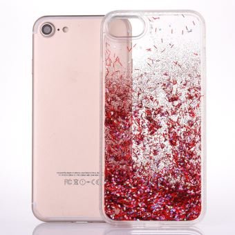 coque iphone 6 paillette rouge