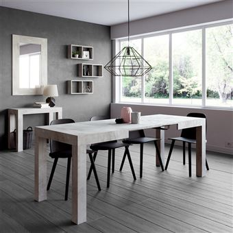 Mobilifiver Table extensible Cuisine, First, Frêne blanc, 120 x 80 x ...