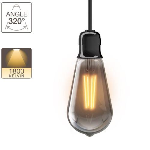 Ampoule LED ST64 - culot E27 - vintage fumée