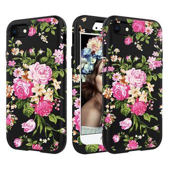 coque fleurie iphone 8