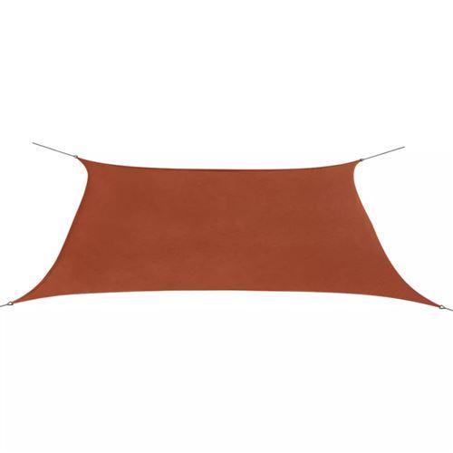 Parasol de jardin en tissu Oxford rectangulaire 2x4m Marron