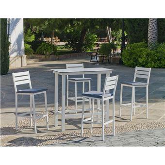 Hevea - Salon de jardin haut en aluminium 4 places Anthonyna