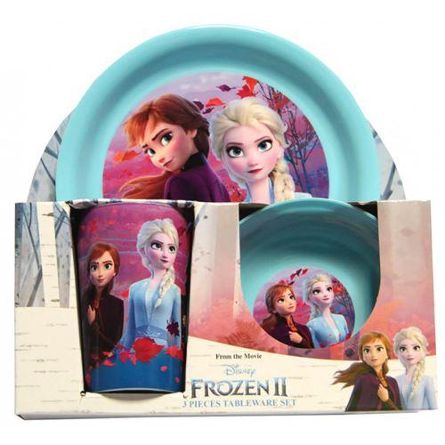 Extra exotic trade - Coffret Repas Bébé La reine des neiges en plastique