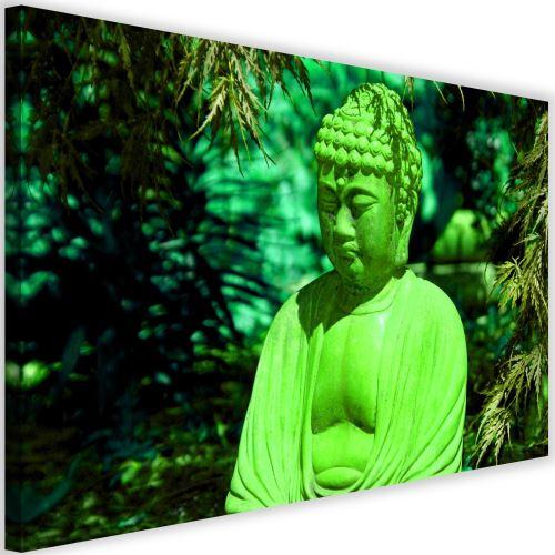 Grand tableau sur toile Image imprimée moderne Canevas Bouddha Arbres 1 120x80