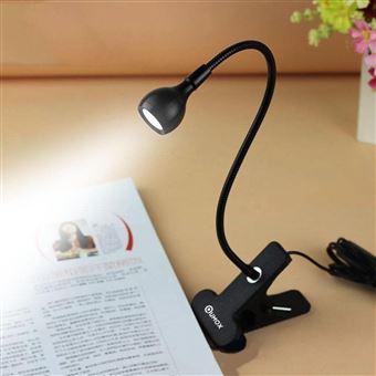 qumox lampe de lecture clip rechargeable port usb led. Black Bedroom Furniture Sets. Home Design Ideas