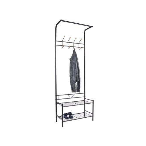 Porte manteau design industriel Saturnus - L. 64 x H. 177 cm - Noir