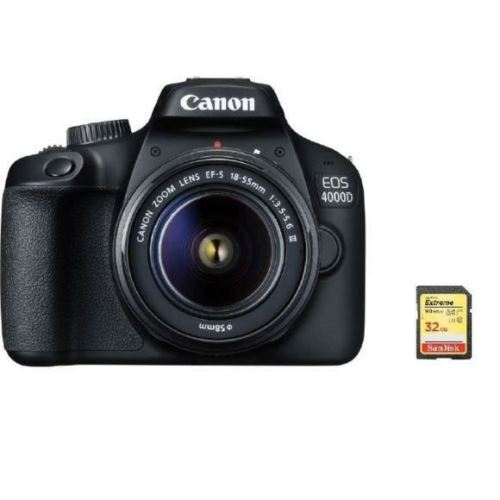 CANON EOS 4000D KIT EF-S 18-55MM F3.5-5.6 III + 32GB SD card