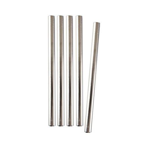 Barbaydos - Pailles droites en inox (Lot de 50) 15 cm