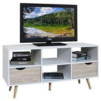 meuble banc tv design nantes d cor blanc et bois meuble tv achat prix fnac. Black Bedroom Furniture Sets. Home Design Ideas