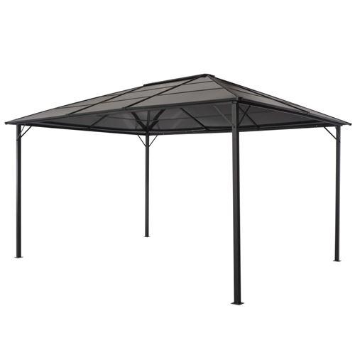 vidaXL Tonnelle avec toit Aluminium 4x3x2,6 m Noir