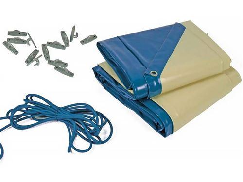 bâche hiver cover 1 pour piscine brazilia - 580 gr/m² - bleu