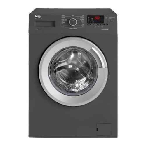 Beko LLF08A5 - Machine à laver - indépendant - largeur : 60 cm - profondeur : 59 cm - hauteur : 84 cm - chargement frontal - 55 litres - 8 kg - 1400 tours/min - anthracite/argenté