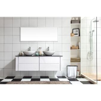 Le Ligure : Ensemble salle de bain meuble, 2 vasques, 1 miroir ...