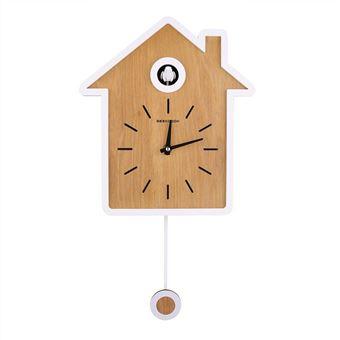 20 Sur Style Nordique Design Simple Horloge De Coucou Moderne Rapport Horloge Swing Clock Horloge Murale Blanc Reveil Achat Prix Fnac