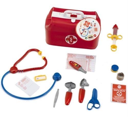 Klein trousse de médecin avec outils rouge