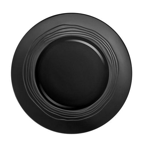 Escale Noir - Coffret 6 assiettes plates