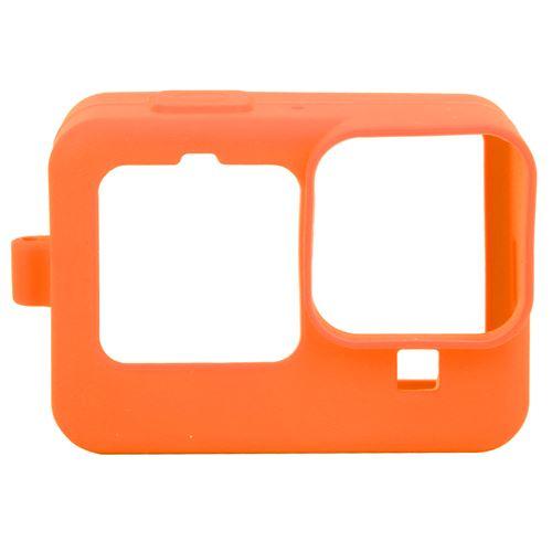 Étui de protection en silicone avec film de protection d'écran pour Gopro Hero 9 - Orange