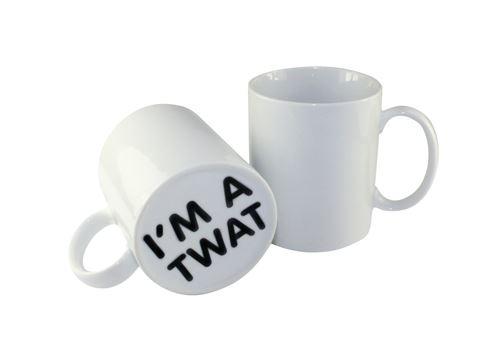 Thumbs Up mug I'm a Twat 500 ml céramique blanc