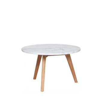Table basse ronde en marbre white stone M Zuiver