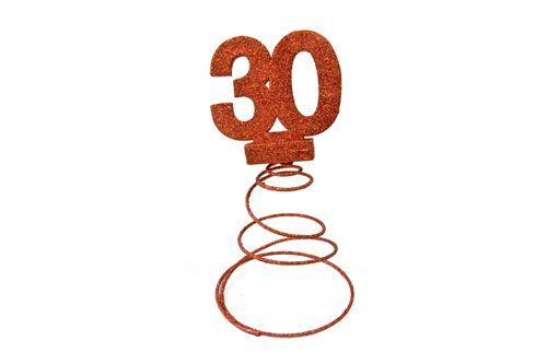Centre de table pour anniversaire 30 ans - Rouge pailletée