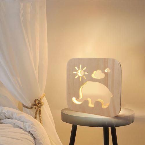Creative Craft Décoration Lampe en bois Led Lumière Veilleuse Lampe de table wedazano437