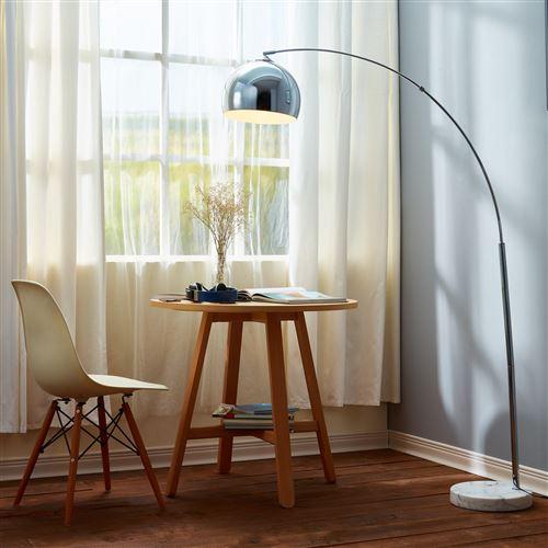 Marbre Lampadaire Arc De Jour Blanc Lampe Arquer Sol Abat Pied Versanora Chrome xBreCdo