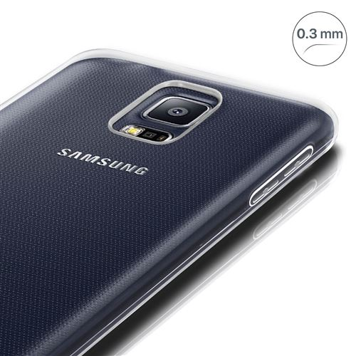 Coque pour Samsung Galaxy S5 / S5 New Silicone Souple Ultra-Fin Transparent