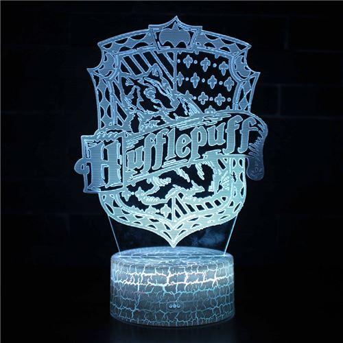 Lampe 3D Tactile Veilleuses Enfant 7 Couleurs avec Telecommande - Harry potter #251