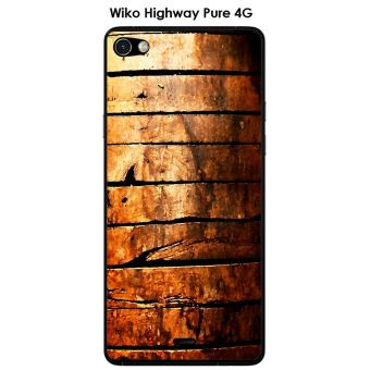 Coque Wiko Highway Pure design Porte en bois